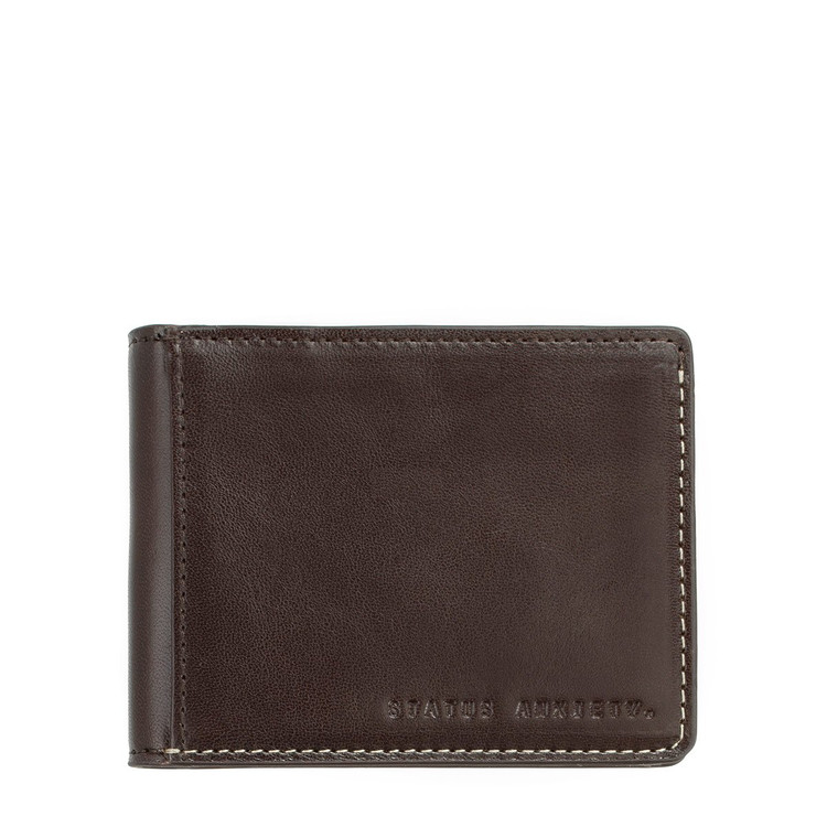 Status Anxiety Ethan Wallet - Chocolate