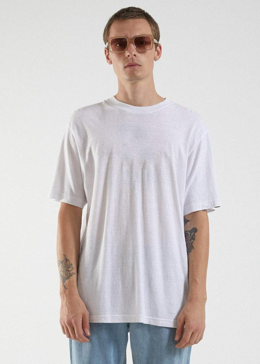 Afends Classic Hemp Retro Fit Tee - White