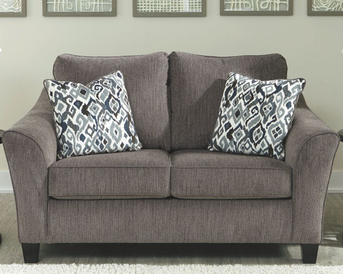 Fine The Wixon Slate Loveseat Available At Home Trends Furniture Machost Co Dining Chair Design Ideas Machostcouk