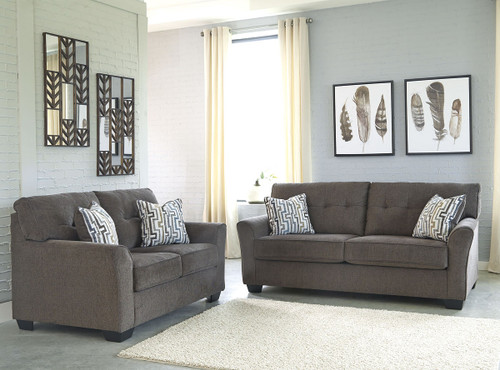 The San Marino Ebony Sofa And Loveseat Available At Home Trends