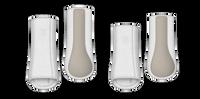 Mattes HI-PRO Fleece Boots White L - set of 4