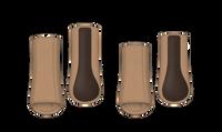 Mattes HI-PRO Fleece Boots Sand L - set of 4
