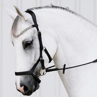 LUMIERE - 'AZURE' ANATOMIC ITALIAN LEATHER BRIDLE - BLACK