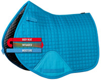 Ceramic Saddle Pad - Exceed - All Purpose Full - Aqua