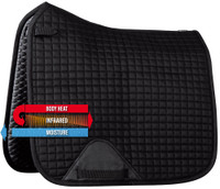 Ceramic Saddle Pad - Exceed - Full Dressage - Black