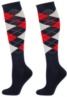 Socks Argyle - Nay/Red/White - M(EU36-40)