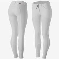 Horze - Breeches Grand Prix - Silicone Full Grip - Competition White