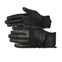HORZE - Gloves - Ladies Leather Mesh - Black