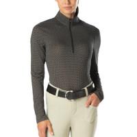 Ice Fil® Lite Long Sleeve Riding Shirt - Chevron Bits Black