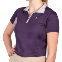 HORZE - TRISTA SUMMER UV RIDING SHIRT WITH MESH - PURPLE -