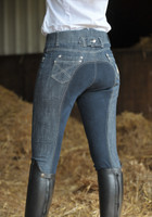 HKM Breeches-Miss Blink Navy Seat - Denim