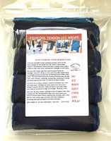 EQUICOOL - TENDON LEG WRAPS - COB (SET OF 4) BLACK