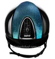 KEP - Helmet - Polish Black - Blue Galassia