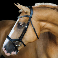 LUMIERE - 'MILA' BLACK ANATOMIC ITALIAN LEATHER BRIDLE - BROWN
