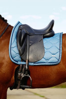 PSOS  - RUFFLE SADDLE PAD - DRESSAGE -SEA - COB