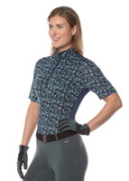 Ice Fil® Lite Short Sleeve Riding Shirt - Indigo Horses