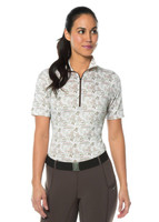 Ice Fil® Lite Short Sleeve Riding Shirt - Vanilla Horse