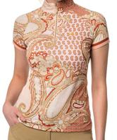 Kastel Denmark UV Shirt - Cap Sleeve Blush Paisley