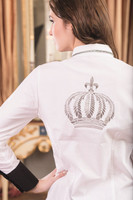 Competition Blouse-SILVER CROWN - by Gloockler