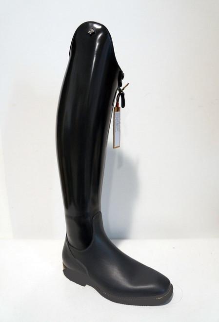 IN STOCK: DeNiro Raffaello Black Brushed Dressage Boot - Rondine top -EU38/A/S