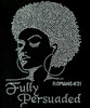 Fully Persuaded Afro girl Lady Clear (Romans 4:21) Rhinestone Transfer