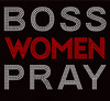 BOSS WOMEN PRAY Red Religious Rhinestone Transfer