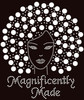 Magnificently Made Afro Girl (13mm Silver hair) Rhinestone Transfer