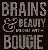 Brains and Beauty mixed with Bougie (Text) Rhinestone Transfer