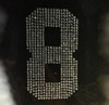 """(any 2 numbers) 5"""" Sports Number Rhinestone Transfer"""