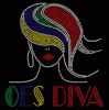 OES  Diva straight hair girl Rhinestone transfer