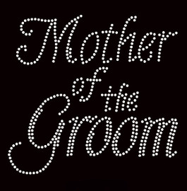 Mother Of The Groom Cursive Rhinestone Transfer