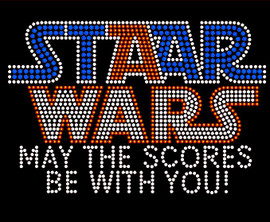Staar Wars (May the scores be with you) School Rhinestone Transfer