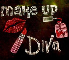 Makeup Diva (Full) Rhinestone Transfer Iron on