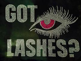 Got Lashes (FUCHSIA Hot Pink) Eye Rhinestone Transfer