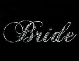Bride SS Rhinestone Transfer Iron on