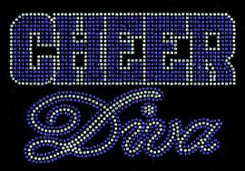 Cheer Diva COBALT BLUE Rhinestone Transfer Iron on