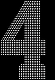 "8"" Sports number (4) Rhinestone Transfer"