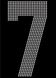 "8"" Sports number (7) Rhinestone Transfer"