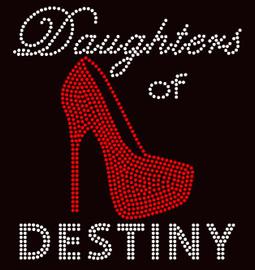 Daughters of Destiny Heel Stiletto Religious Rhinestone transfer