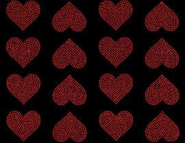 "(16 qty) 2"" Hearts Rhinestone Transfer Iron on"