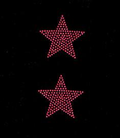 """(2 qty) 3"""" Star (FUCHSIA Hot Pink) Rhinestone Transfer"""