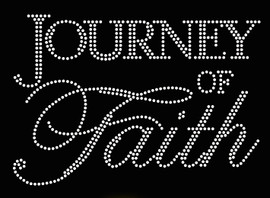 Journey of Faith Religious Rhinestone Transfer