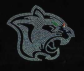 Black Panther Clear Head Green eye Rhinestone transfer
