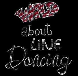 Wild about Line Dancing Rhinestone Transfer