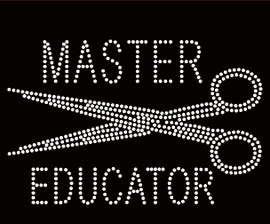 Master Educator Scissors Hair Rhinestone Transfer