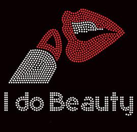 I do Beauty Lipstick Lips Makeup Rhinestone Transfer