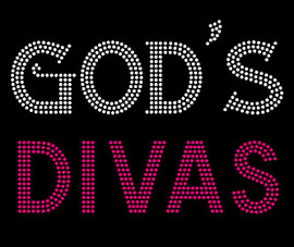 God's Divas Religious Rhinestone Transfer