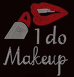 I do Makeup Lipstick Make up Rhinestone Transfer