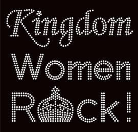 Kingdom Women Rock Religious Rhinestone Transfer