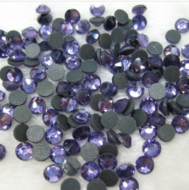 Tanzanite (Light) 3mm 10ss Premium Quality Loose Hotfix Rhinestone